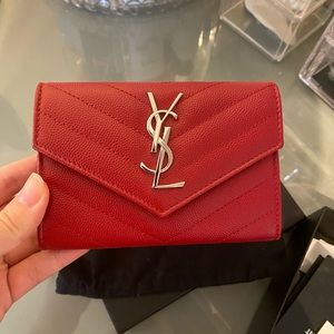SAINT LAURENT MONOGRAM SMALL ENVELOPE WALLET